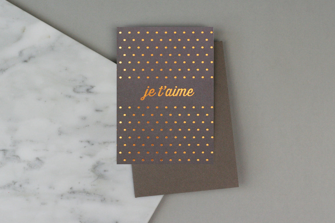 JE T'AIME SPOTTY CARD