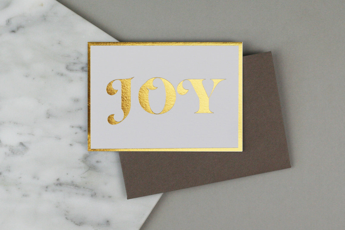 joy christmas card box set luxury gold