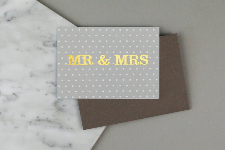 MR & MRS SPOTTY CARD