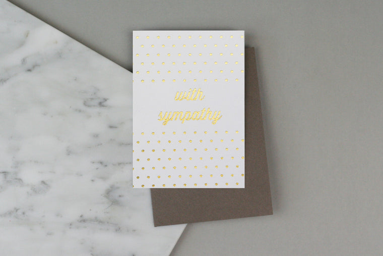 WITH SYMPATHY SPOTTY CARD