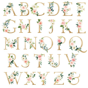 Nursery Art Girl Alphabet Monogram