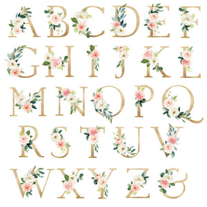 Blushed Collection - Floral Monogram - Print