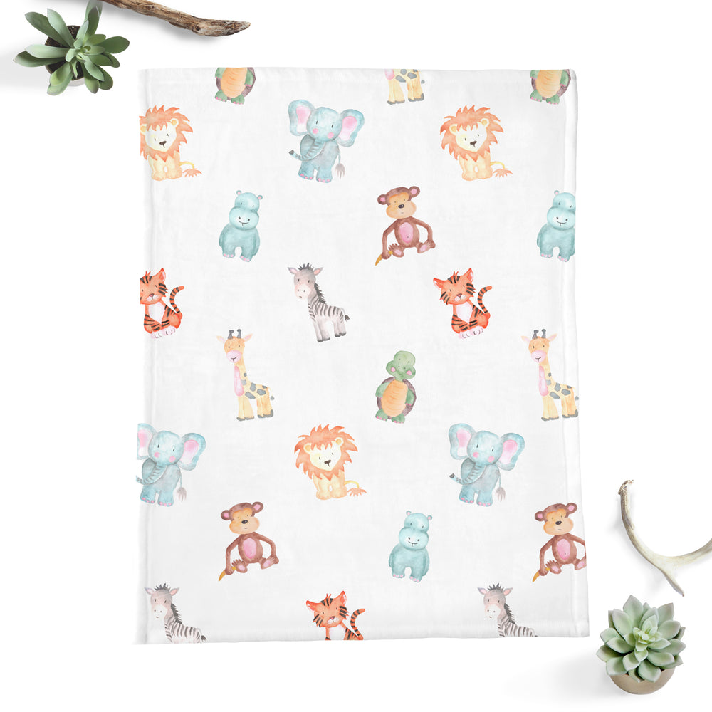 Safari Animal Minky Blanket