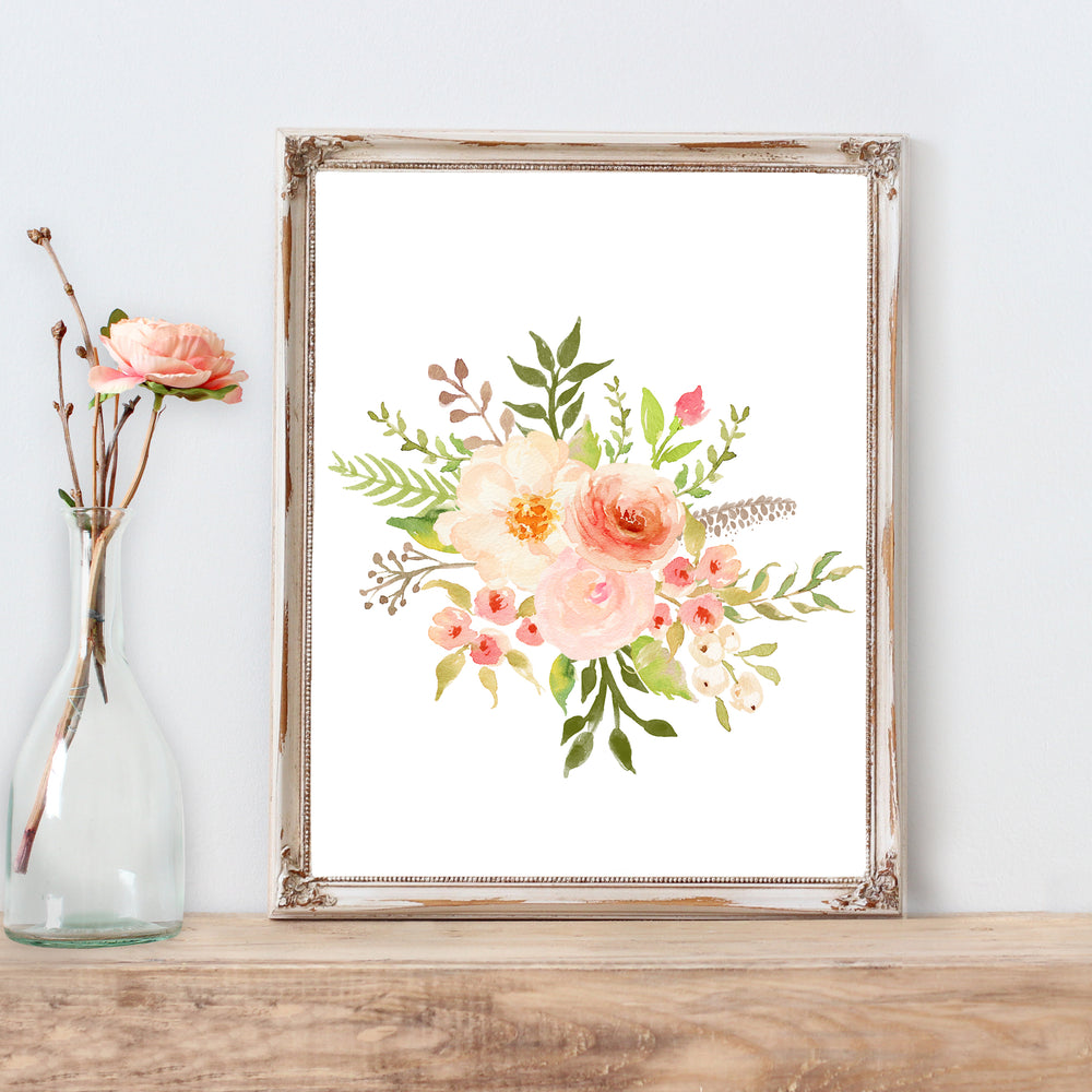 Floral Whimsy - Bouquet I - Print