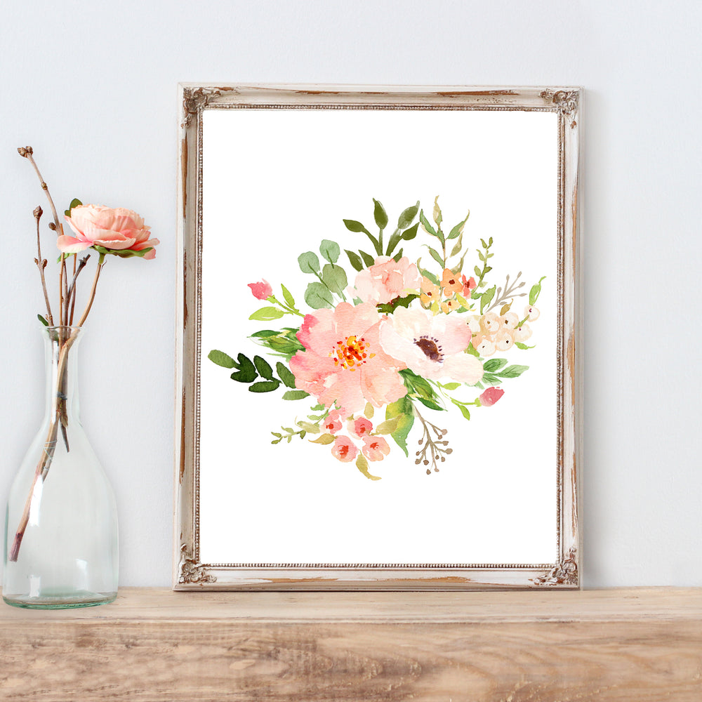 Floral Whimsy - Bouquet II - Print