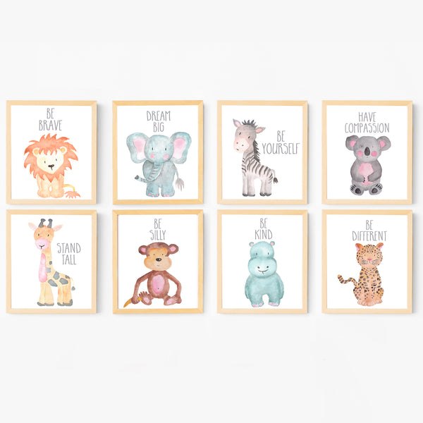 photograph relating to Printable Safari Animals called Animal Nursery Artwork Electronic Printables