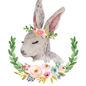 Meadowland Bunny I - Choice of With or Without Words - Print