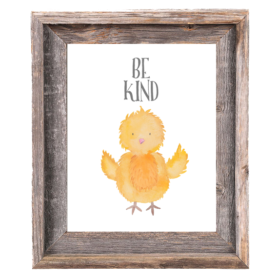 Provincial Collection - Chick Be Kind - Print