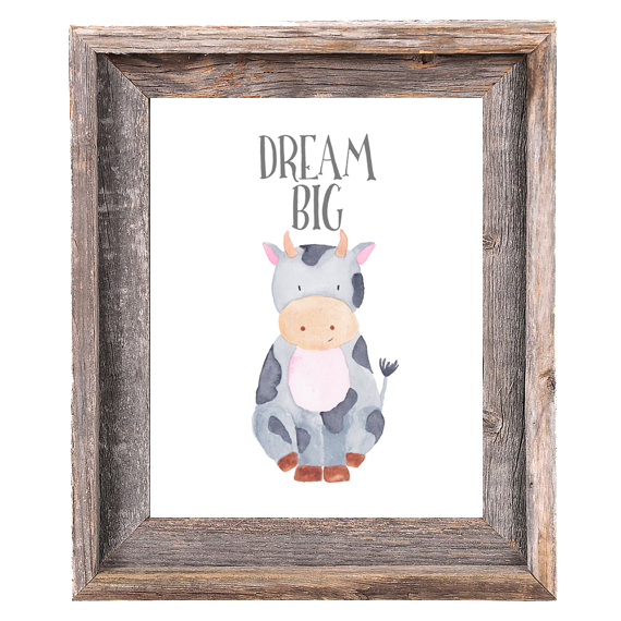 Provincial Collection - Cow Dream Big - Print