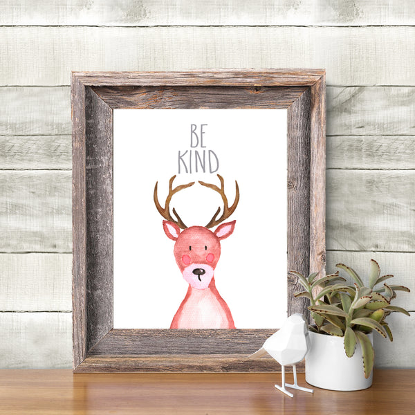 Woodland Collection - Deer - Be Kind - Instant Download