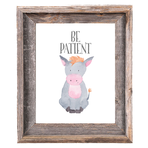 Provincial Collection - Donkey Be Patient - Print