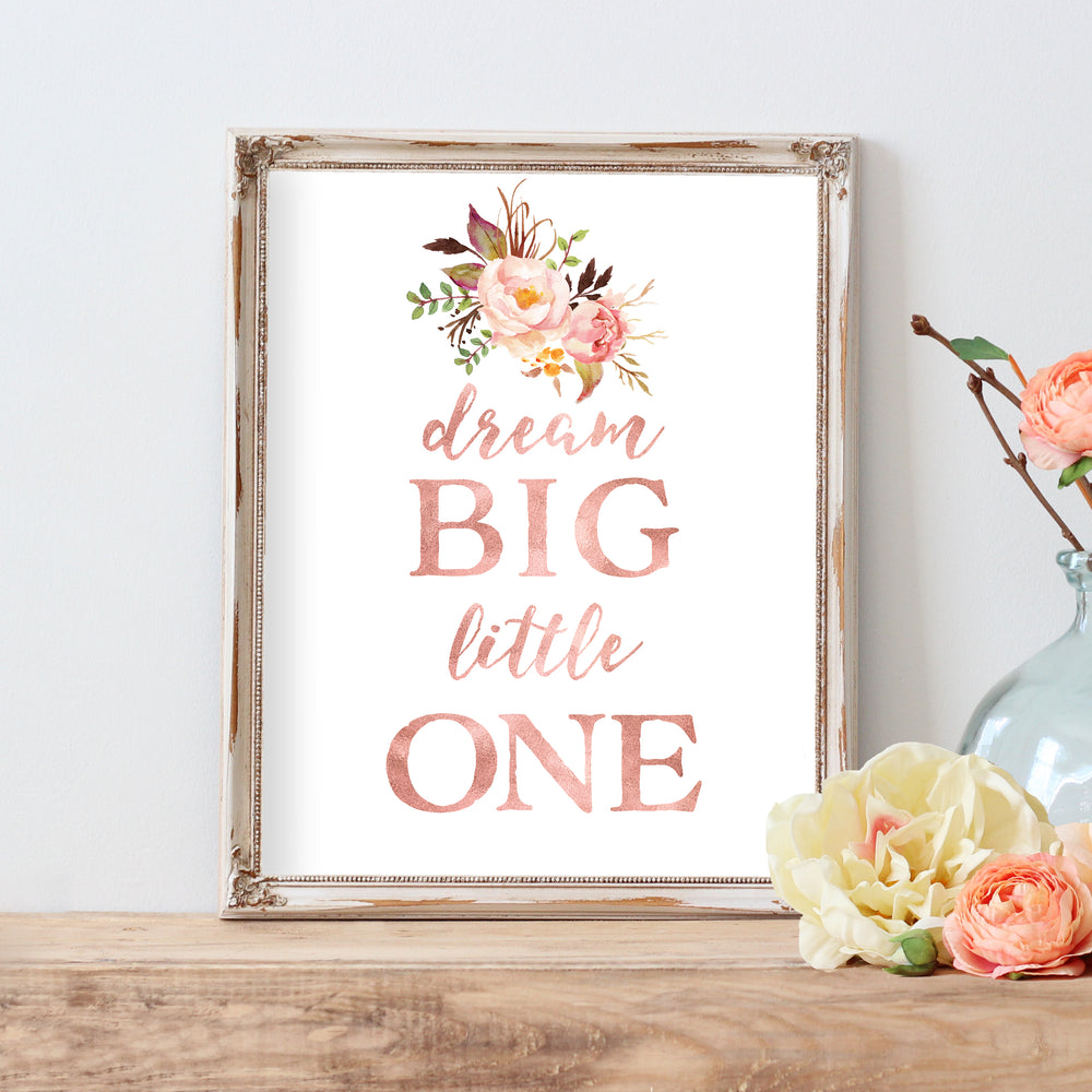 Tribal Rose - Dream Big Little One - Instant Download