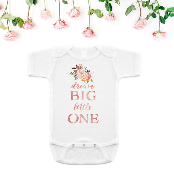 Dream Big Little One Onesie - Tribal Rose