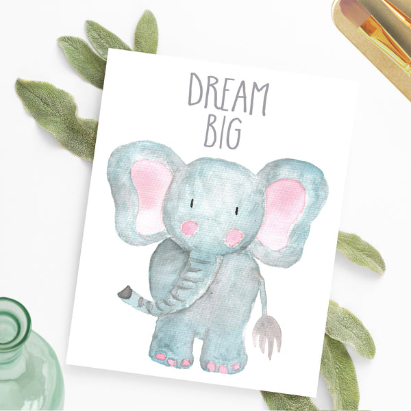 Safari Collection - Elephant Dream Big - Print
