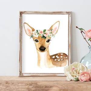 Blushed Collection - Floral Deer - Instant Download