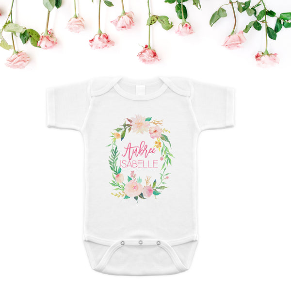 Personalized Onesie - Floral Whimsy Collection