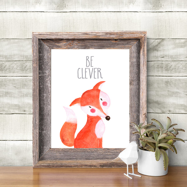 Woodland Collection - Fox - Be Clever - Instant Download