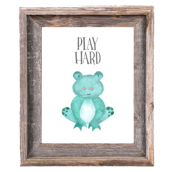 Provincial Collection - Frog Play Hard - Print