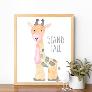 Watercolor Giraffe Nursery Printable Art
