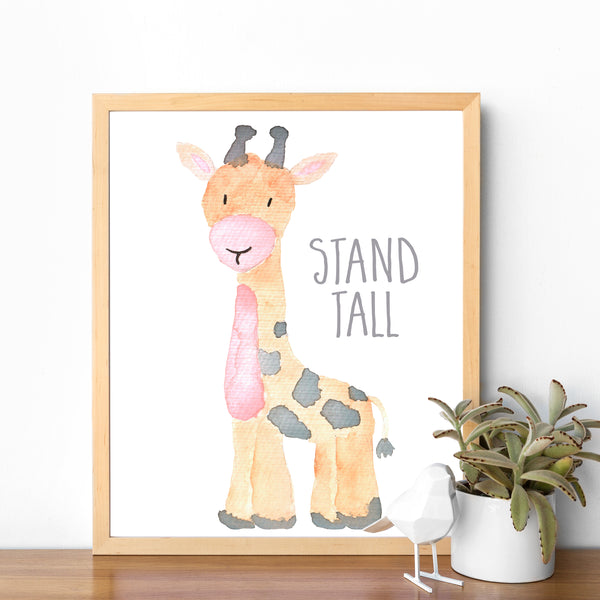 Safari Collection - Giraffe Stand Tall - Print