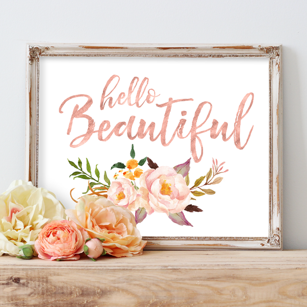 Tribal Rose - Hello Beautiful - Instant Download