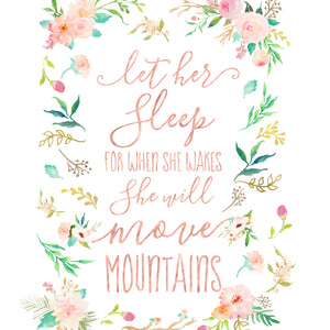Floral Whimsy Collection - Let Her Sleep - Print