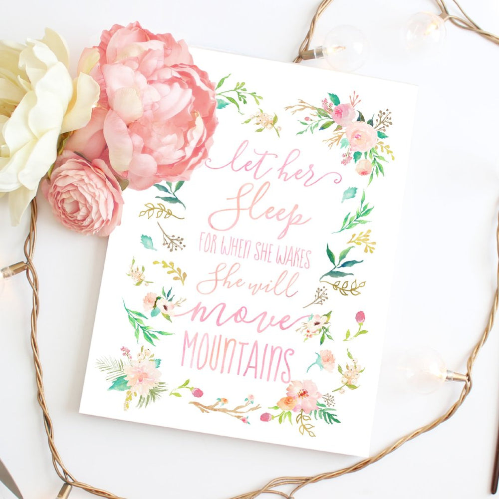 Floral Whimsy Collection - Let Her Sleep - Instant Download