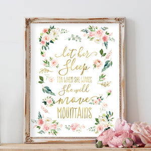 Blushed Collection - Let Her Sleep For When She Wakes She Will Move Mountains - Print