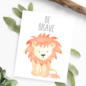 Watercolor Lion Nursery Printable Art