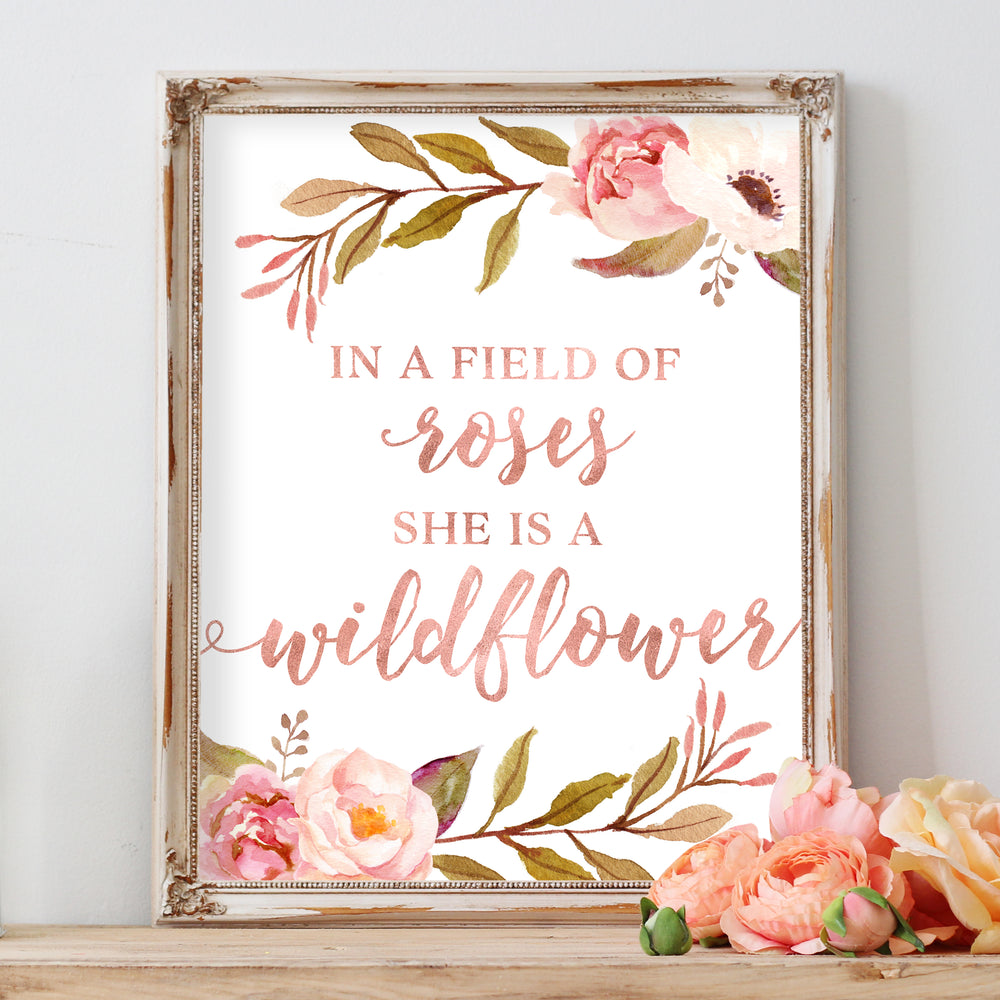 Tribal Rose - In A Field of Roses She Is A Wildflower - Instant Download