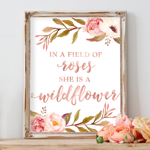 Tribal Rose - In A Field of Roses She Is A Wildflower - Print