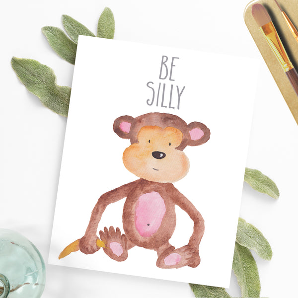 Safari Collection - Be Silly - Print