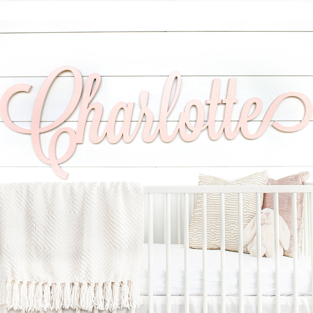 Wooden Nursery Name Sign - Personalized Nursery Decor For Baby