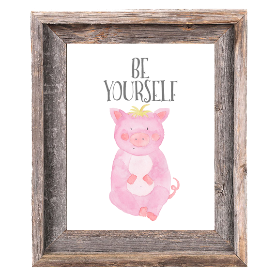 Provincial Collection - Pig - Be Yourself - Instant Download