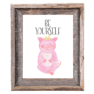 Provincial Collection - Pig - Be Yourself - Print