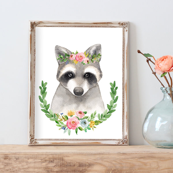 Meadowland Raccoon - Instant Download