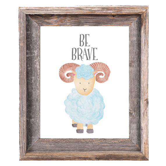 Provincial Collection - Ram - Be Brave - Print