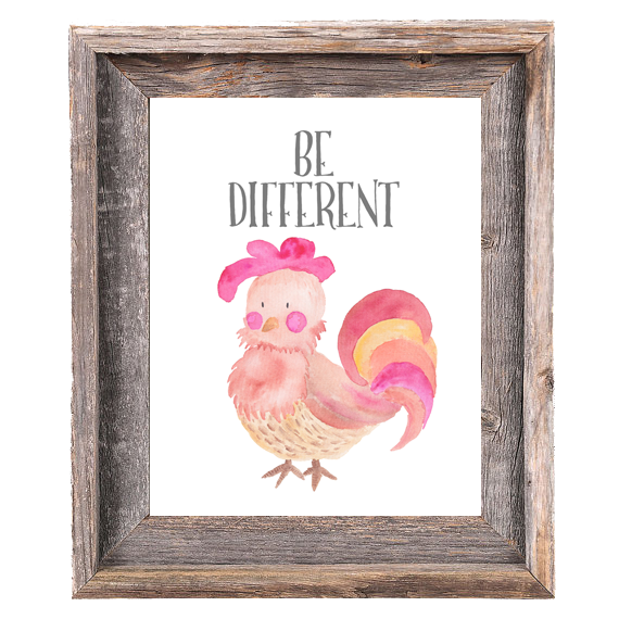 Provincial Collection - Rooster - Be Different - Instant Download