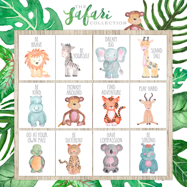 Safari Collection - Set of 12 - Prints