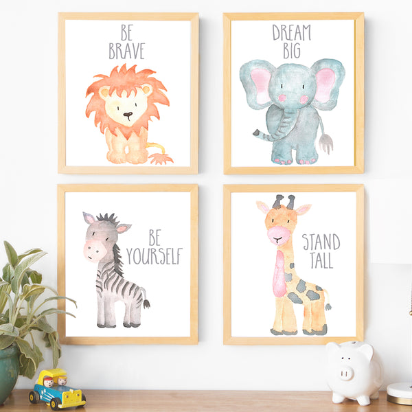 image relating to Printable Safari Animals identified as Animal Nursery Artwork Electronic Printables