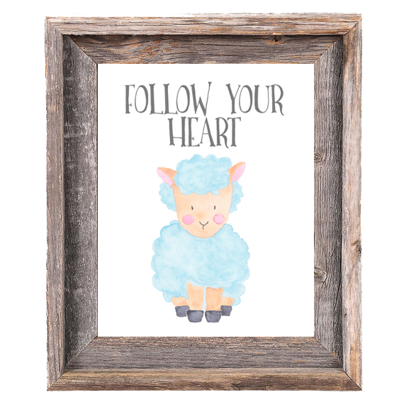 Provincial Collection - Sheep - Follow Your Heart - Print