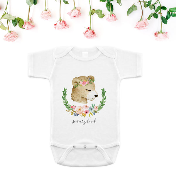 So Beary Loved Onesie - Meadowland Collection