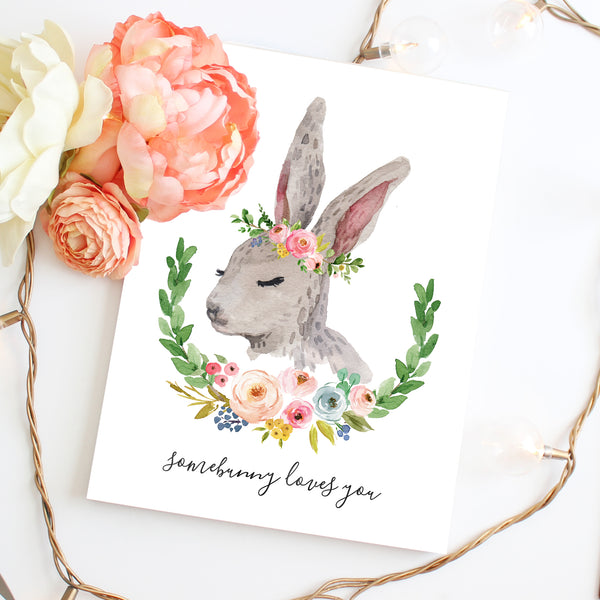 Meadowland Bunny I - Two Versions - Instant Download