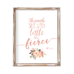 Tribal Rose - Though She Be But Little She Is Fierce - Instant Download