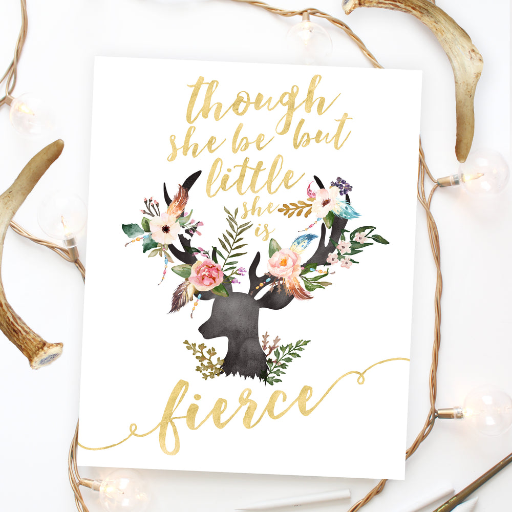 Bohemia Collection - Though She Be But Little She Is Fierce - Instant Download