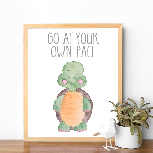 Safari Collection - Turtle Go At Your Own Pace - Instant Download
