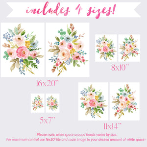 Meadowland Bouquets III & IV - Set of 2 - Instant Download