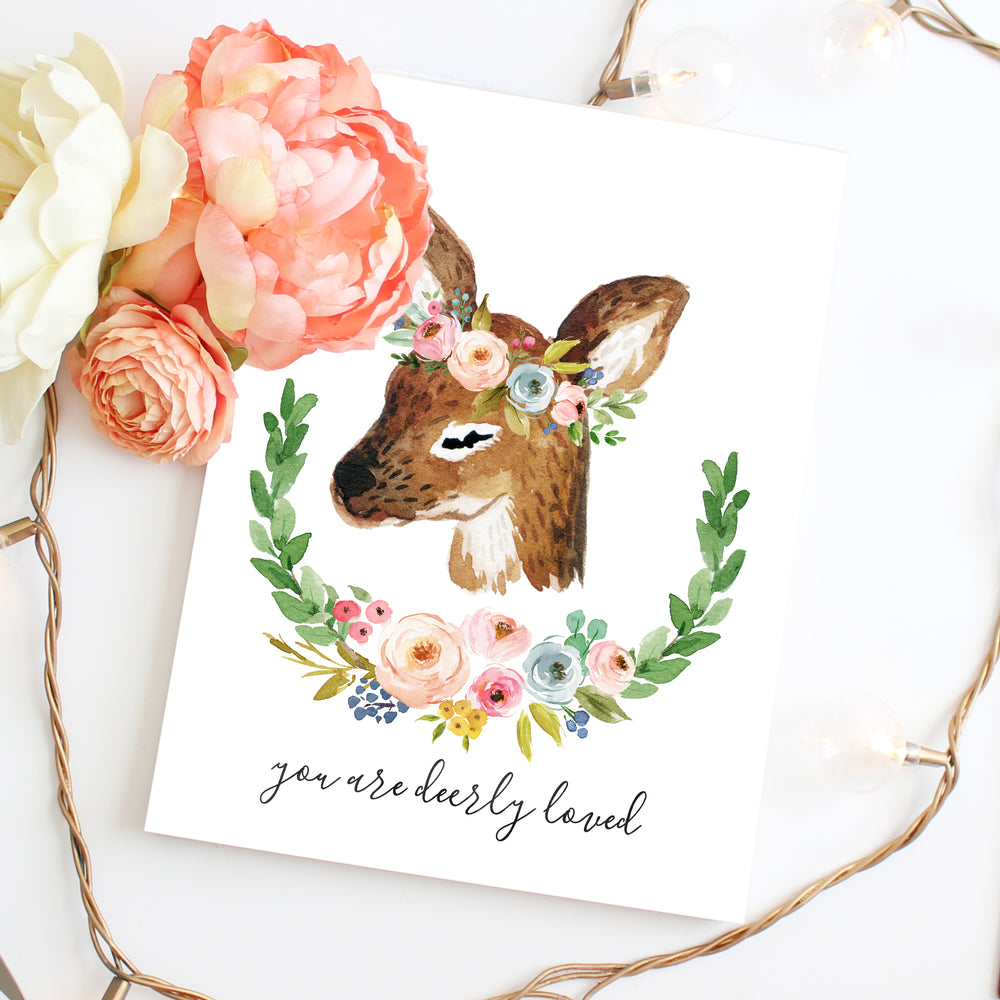 Meadowland Deer I - Two Versions - Instant Download