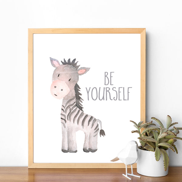 Safari Collection - Zebra Be Yourself - Print