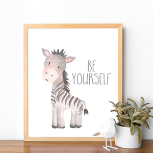 Watercolor Zebra Nursery Printable Art